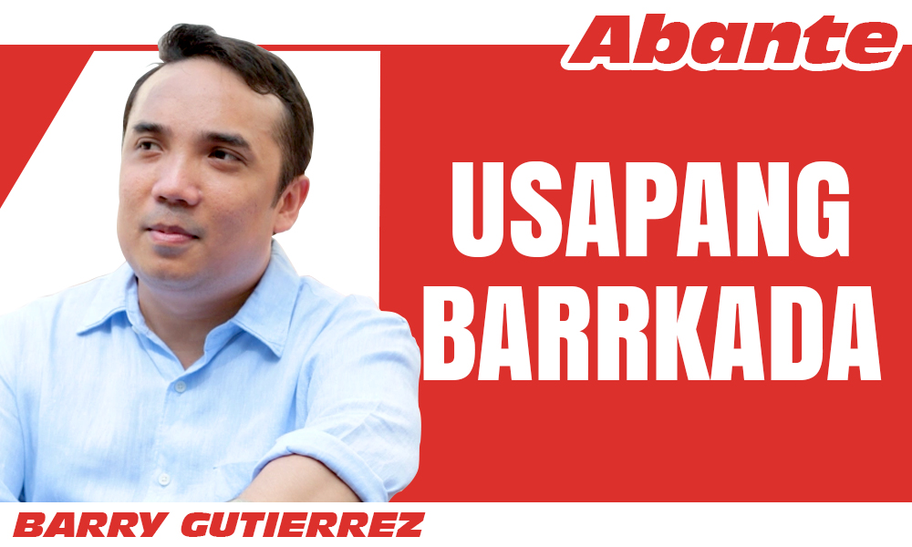 EDITORIAL LOGO Barry Gutierrez usapang barrykada - Pasko at Pagkakaisa