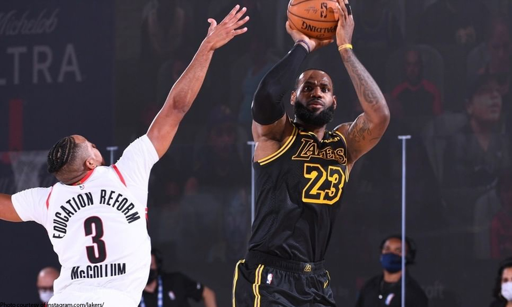 Lebron James - Mismatch! Blazers tambak kay LeBron, Lakers