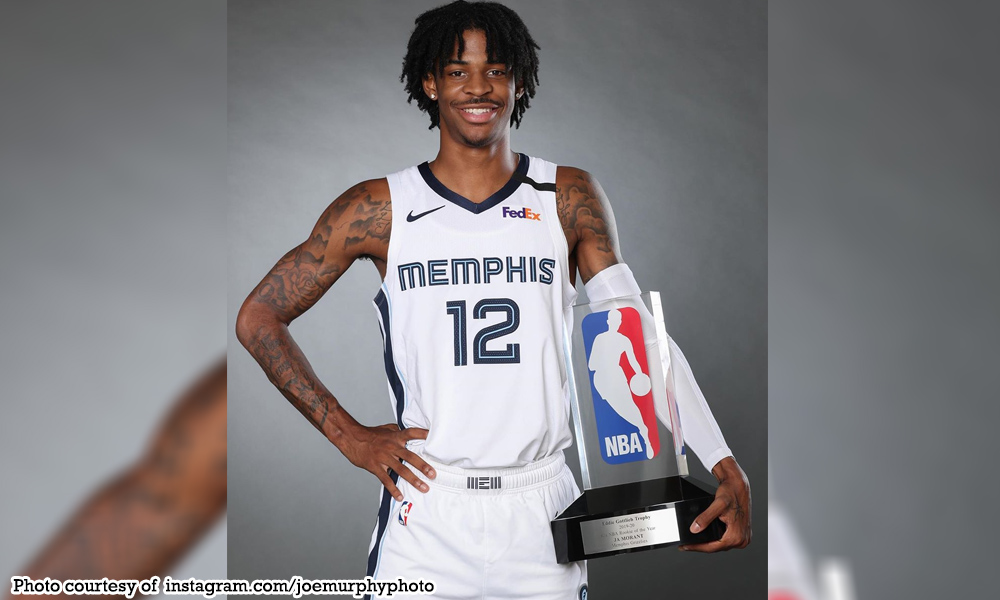 abante ja morant - Rookie of the Year si Morant
